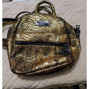 BCBG Snakeskin Texture Mini Backpack